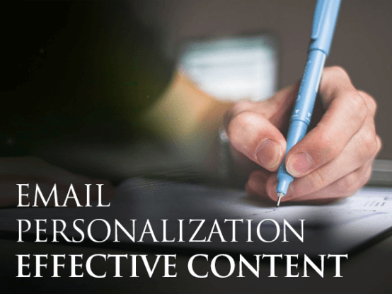 Email personalization effective