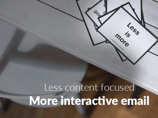 Less content focused