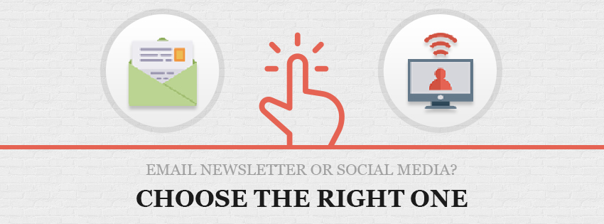 email newsletter or social media checklisting the important source