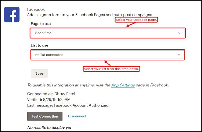Signup form of Facebook